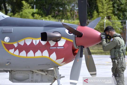 Pesawat Super Tucano tiba di Bali untuk operasi Garda Samudera