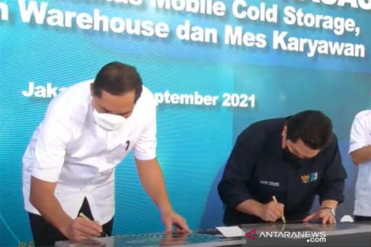 """Erick Thohir-Mendag Lutfi resmikan """"cold storage"""" milik BGR Logistics"""