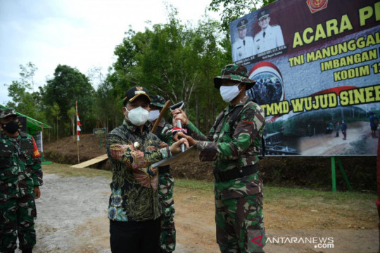 Bupati Sambas buka TMMD di daerah perbatasan