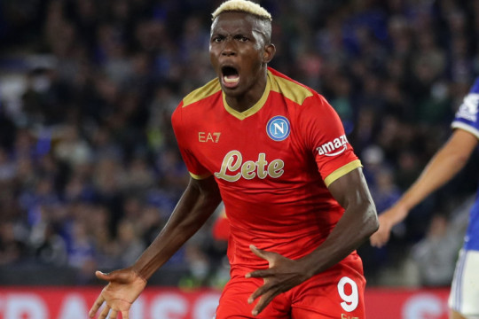 Hasil Liga Europa: Napoli imbangi Leicester, Lyon terkam Rangers