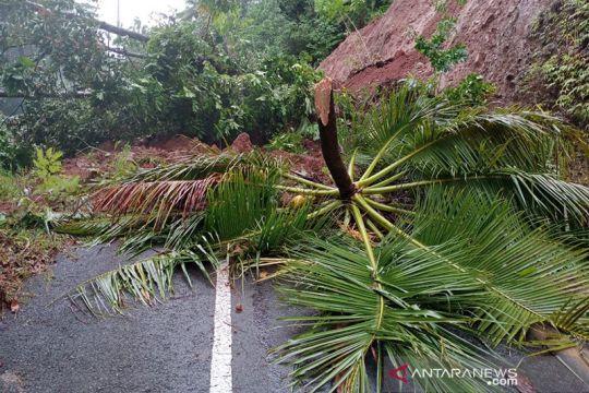 Sebagian jalur jalan di Kabupaten Sangihe tertimbun longsor