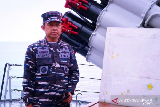 TNI AL kerahkan 5 KRI menjaga laut Natuna Utara
