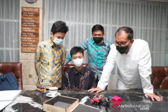 Tiga siswa minta dukungan Wali Kota Makassar di Asean Robotic Day