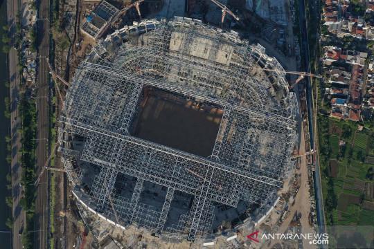 Progres pembangunan Jakarta International Stadium