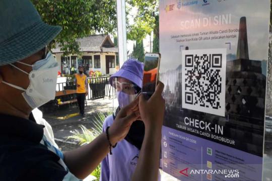 Uji coba pembukaan Borobudur dan Prambanan pakai PeduliLindungi lancar