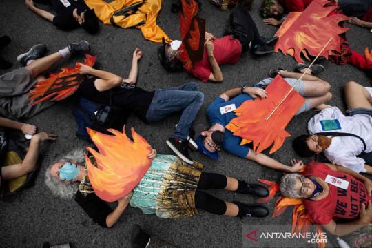 Aksi protes perubahan iklim di Manhattan