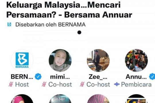 Menteri Komunikasi Malaysia interaksi lewat Twitter Space