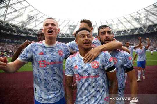LIga Inggris: Manchester United curi angka penuh di kandang West Ham United