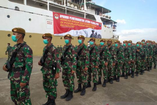 Kodam XII/Tpr berangkatkan 499 prajurit komponen cadangan ke Batujajar