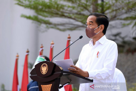 Presiden Jokowi terima jajaran pengurus PKP di Istana Bogor