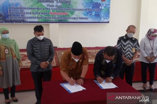Bank Nagari-Agam kerja sama dukung digitalisasi transaksi pemda
