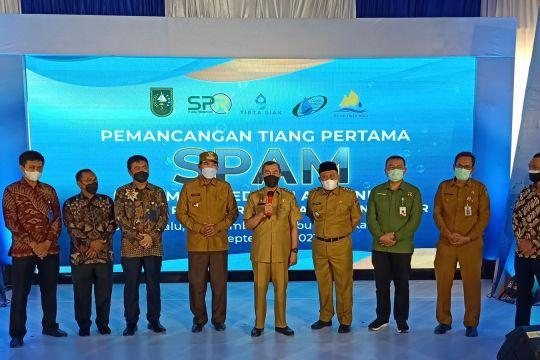 PT PP lakukan pemancangan tiang pertama SPAM di Riau