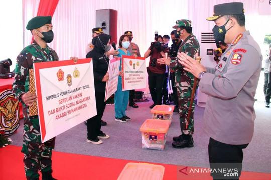 Serbuan vaksinasi wujud sinergitas TNI-Polri bantu kendalikan COVID-19