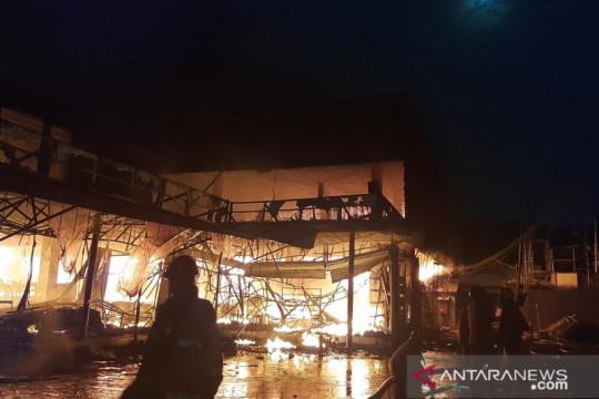 Polisi siap selidiki penyebab kebakaran  Swalayan Cahaya