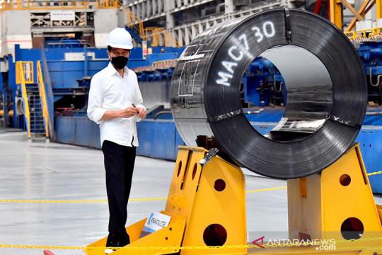 Presiden harap pabrik Hot Strip Mill 2 bantu hemat devisa Rp29 triliun