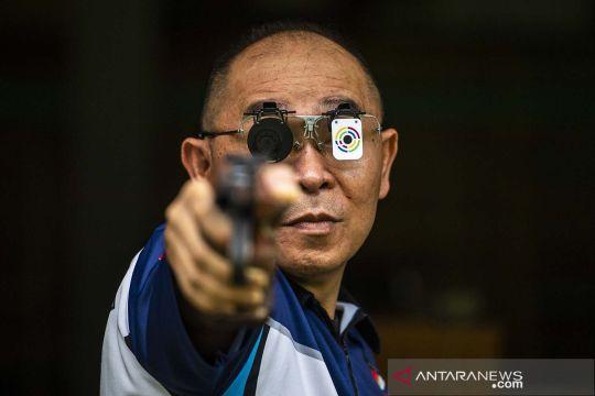 Latihan atlet menembak Jabar jelang PON Papua
