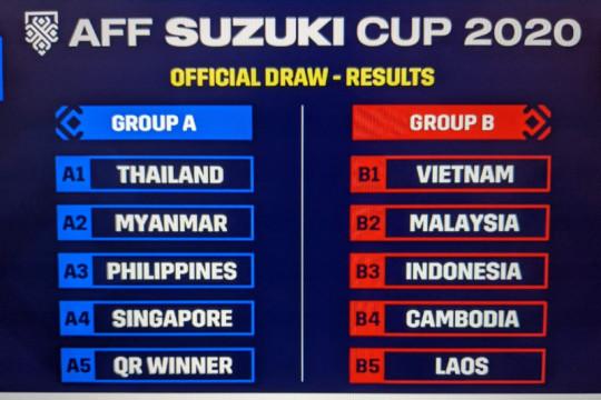 Indonesia segrup dengan Malaysia dan Vietnam di Piala AFF 2020