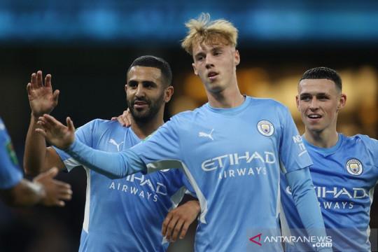Manchester City melenggang di Piala Liga usai lumat tim strata ketiga