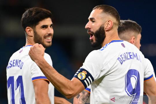 Marco Asensio cetak trigol, Real Madrid bantai Real Mallorca 6-1