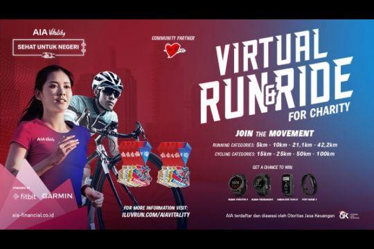 Pandemi belum berakhir, AIA gelar lomba lari dan bersepeda virtual