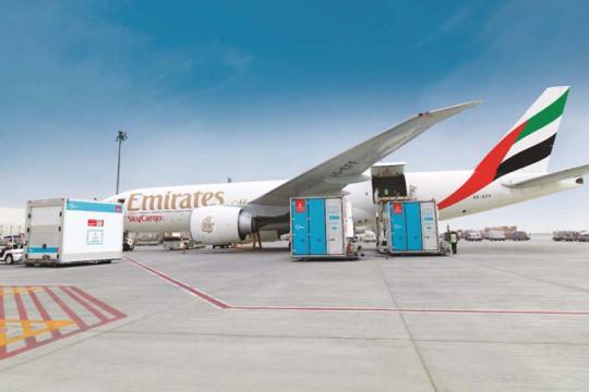 Emirates sudah angkut 7 juta dosis vaksin COVID-19 ke Indonesia