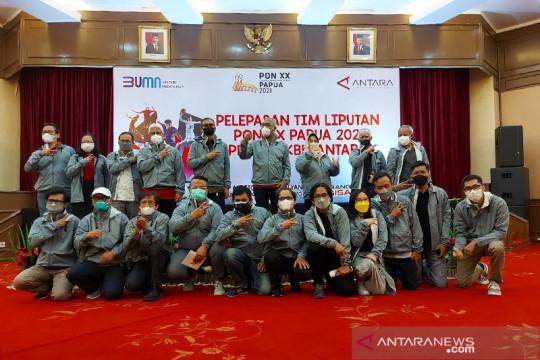 LKBN ANTARA lepas keberangkatan tim peliputan PON XX Papua
