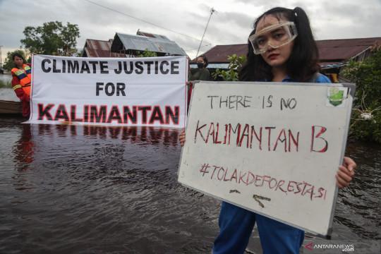 Pelajar Kalimantan tuntut keadilan iklim