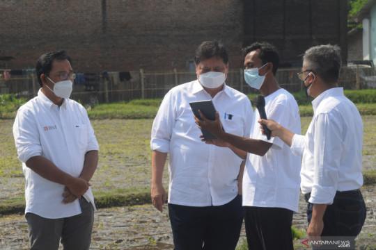 Menko Airlangga apresiasi vaksinasi di Klaten