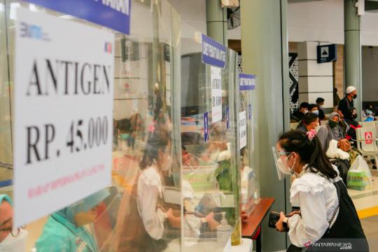 Tarif tes cepat Antigen di Stasiun Pasar Senen turun