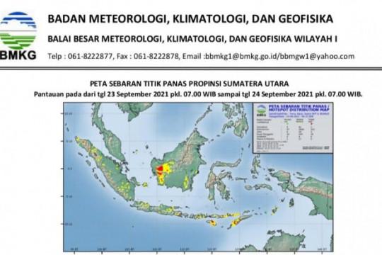 BMKG: Muncul 18 titik panas di Sumatera Utara