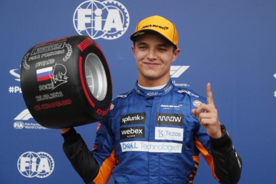 Kualifikasi GP Rusia: Norris klaim pole position perdana