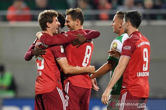 Bayern tundukkan Fuerth walau tuntaskan laga dengan sepuluh pemain