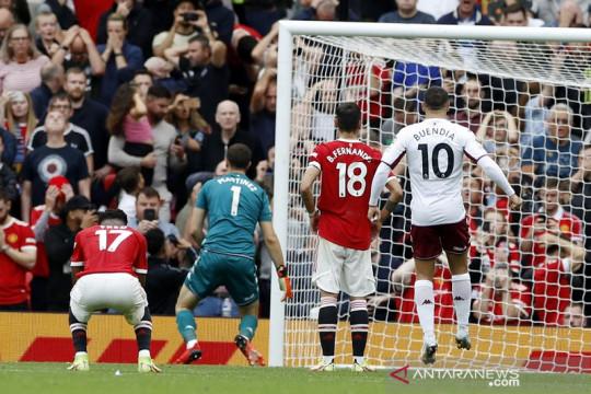 Sudah dapat penalti, Manchester United tetap kalah lawan Aston Villa