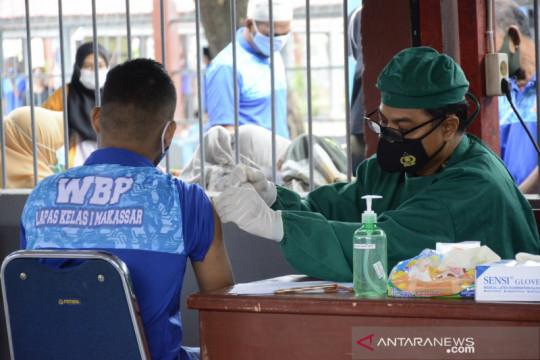 Sebanyak 1.300 dosis vaksin disiapkan untuk WBP Rutan Makassar