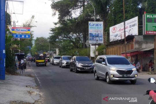Polda sebut mobilitas kendaraan di Bandung dan Puncak menurun