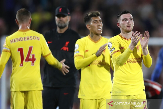 Klasemen Liga Inggris: satu-satunya nirkalah, Liverpool duduki puncak