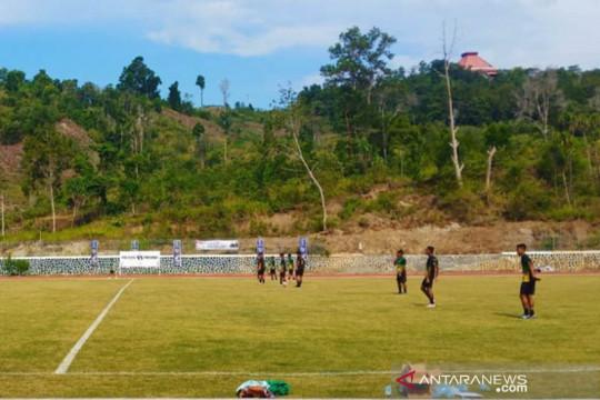 Tim Sepak bola Sumut uji coba Lapangan Stadion Mahacandra Jayapura