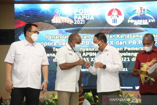 Kemenpora salurkan dana tambahan Rp831 miliar PON dan Peparnas Papua
