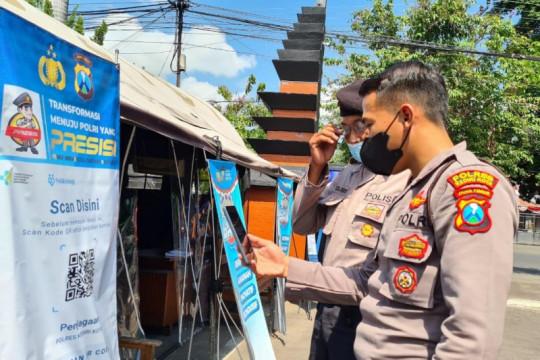 Polres Kediri Kota terapkan QR aplikasi PeduliLindungi