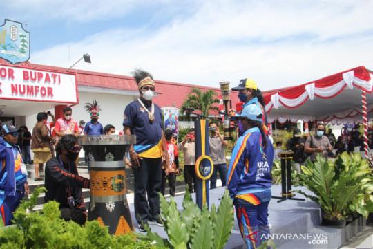 Kirab api PON Papua di Biak raih sambutan meriah warga