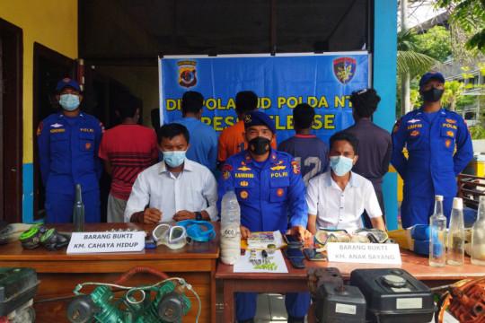 Ditpolair Baharkam Polri sita 42 batang detonator dari kapal ikan