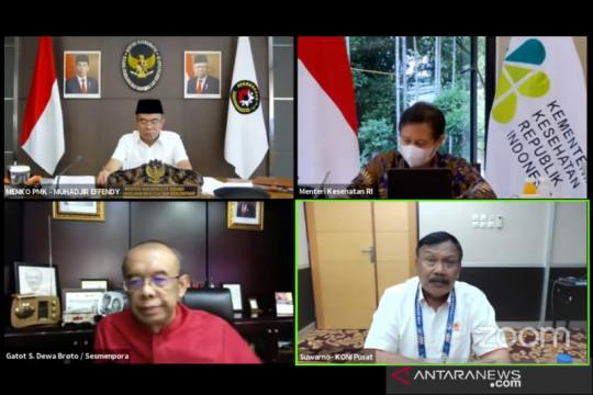 Menko PMK: Penonton PON Papua harus sudah divaksin dosis kedua