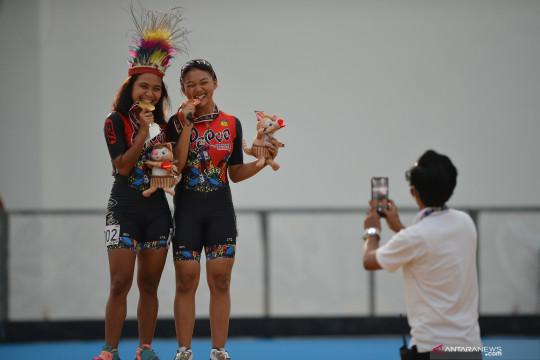 PON Papua: Atlet sepatu roda Papua raih emas 400 meter ITT putri