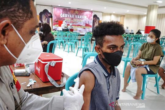 Cakupan vaksinasi di daerah penyelenggara PON XX sudah 60 persen lebih