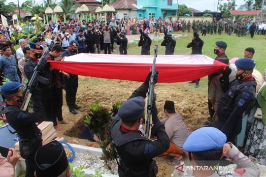 Anggota Brimob yang gugur di Papua dimakamkan di TMP Aceh Tamiang
