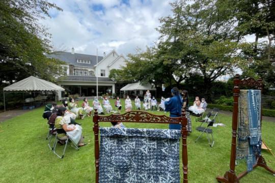 DWP KBRI Tokyo promosikan batik indigo Indonesia di Jepang