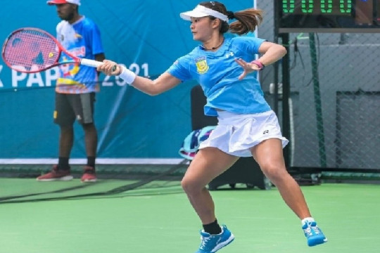 Tim tenis putri Papua sikat Jabar untuk juarai grup B