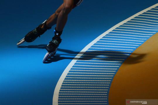 Anjang Pius persembahkan medali emas pertama Kaltim dari sepatu roda