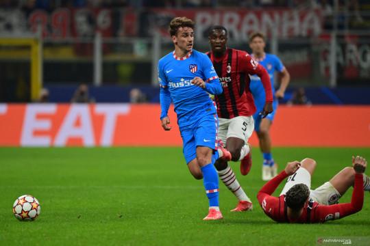 Sempat tertinggal, Atletico Madrid menang dramatis 2-1 atas AC Milan