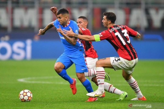 Liga Champions: Babak pertama  usai AC Milan unggul 1-0 atas  Atletico Madrid